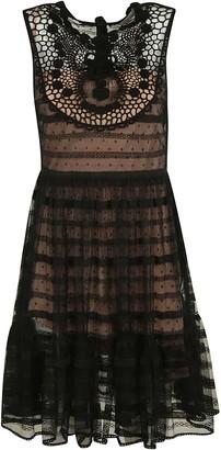 RED Valentino Sleeveless Lace Dress