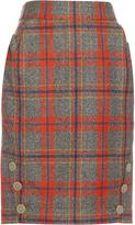 Vivienne Westwood Twisted tartan wool skirt