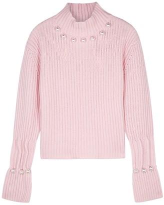 J.W.Anderson Pink embellished wool-blend jumper
