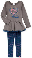 Hello Kitty Little Girls' 2-Pc. Sequin Top and Leggings Set