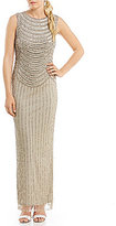Pisarro Nights Cold Shoulder Beaded Gown