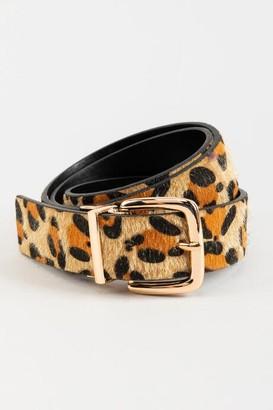 francesca's Josie Reversible Leopard Belt - Leopard