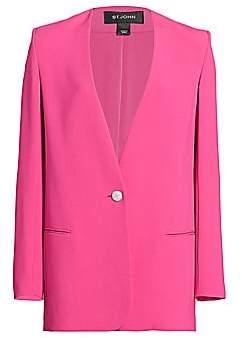 St. John Women's Heavy Cady Collarless Jacket