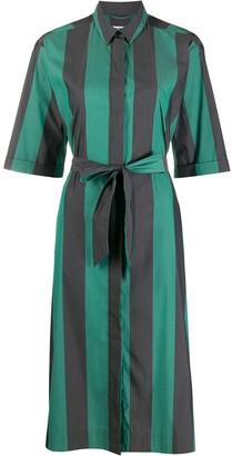 YMC Striped Tie-Waist Shirt Dress