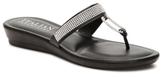 Italian Shoemakers Rhinestone Wedge Sandal