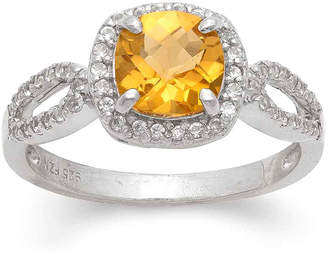 FINE JEWELRY Yellow Citrine Cocktail Ring