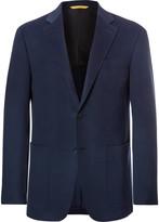 Canali Blue Kei Slim-Fit Unstructured Cashmere Blazer