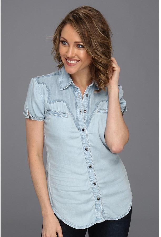 Blank NYC Denim S/S Shirt (Ranch Dressing) - Apparel