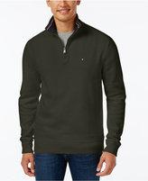Tommy Hilfiger Men's Big & Tall Ribbed Quarter-Zip Sweater