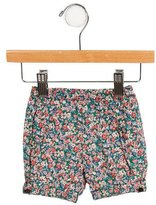 Bonpoint Girls' Floral Print High-Rise Shorts