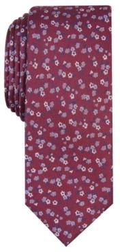Bar III Men's Penrose Skinny Floral Tie, Created for Macy's