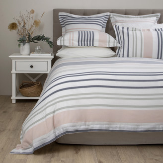 Wallace Cotton - Horizon Stripe Cotton Duvet Set Double