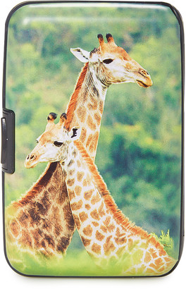 Fig Design Group Women's WHITE - White & Orange Giraffe RFID-Secure Credit Card Case