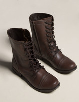 Steve Madden Troopa Lace Up Womens Combat Boots