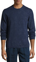 Etro Paisley Wool Crewneck Sweater, Blue