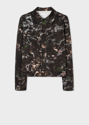 Paul Smith Men's 'Floral Photo' Print Trucker Jacket