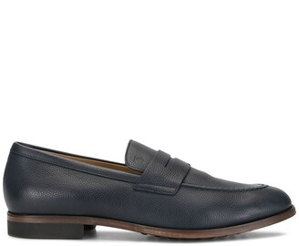 Tod's Pebbled Leather Loafers