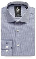 Jeff Banks Navy Diamond Texture Formal Shirt