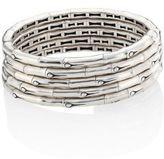 John Hardy Bamboo Sterling Silver Multi-Row Coil Bracelet