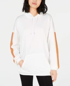 Waisted Oversized Reflective-Tape Hoodie
