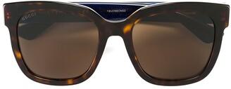Gucci tortoiseshell square sunglasses