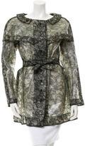 Rochas Lace PVC Coat w/ Tags