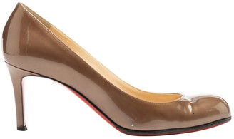 Christian Louboutin Simple pump Brown Patent leather Heels