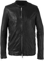 Giorgio Brato stitched detail jacket - men - Cotton/Leather/Nylon - 48