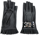 Twin-Set embellished fingerless gloves