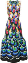 Mary Katrantzou peacock evening dress