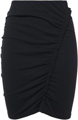 IRO Daringa Ruched Cotton-jersey Mini Skirt