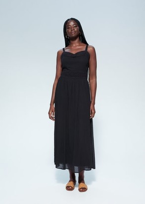 MANGO Violeta BY Openwork detail dress black - 12 - Plus sizes