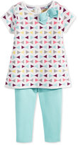 First Impressions Baby Girls' 2-Pc. Short-Sleeve Intarsia Sweater Tunic & Leggings Set, Only at Macy's