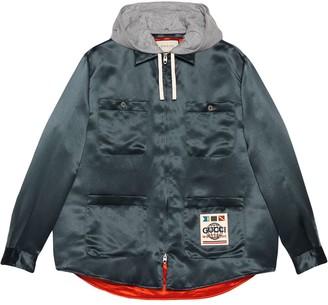 Gucci Worldwide hooded shirt jacket