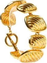 One Kings Lane Vintage Goldtone Link Bracelet w/ Toggle Clasp