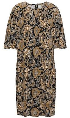 MICHAEL Michael Kors Gathered Printed Stretch-crepe Mini Dress