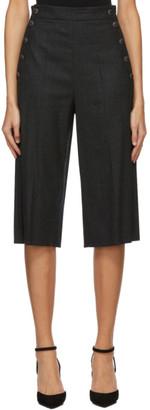 Max Mara Grey Wool Calle Bermuda Shorts
