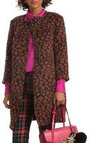 Trina Turk Leopard Print Alpaca and Wool Blend Coat