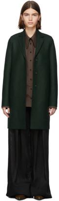 Harris Wharf London Green Pressed Wool Cocoon Coat