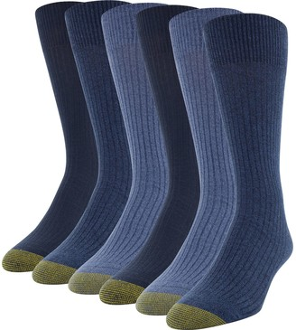 Gold Toe Men's GOLDTOE 6 Pack Stanton Extended Crew Socks