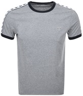 Fred Perry Taped Ringer T Shirt Grey