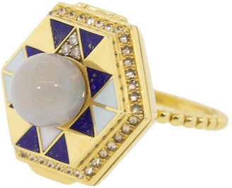 Harwell Godfrey Pearl Top Lapis and Diamond Poison Ring