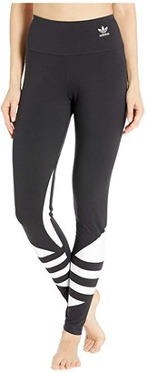adidas Large Logo Tights (Black/White) Women's Casual Pants