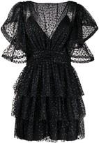 Alberta Ferretti glittered ruffled dress
