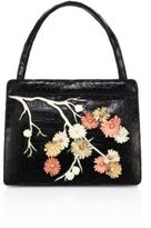 Nancy Gonzalez Cherry Blossom Crocodile Top-Hande Tote