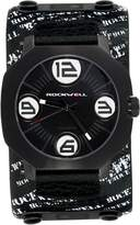 Rockwell Men's AS106 Men Assassin -Plated Stainless Steel Case and Printed Leather Band Watch