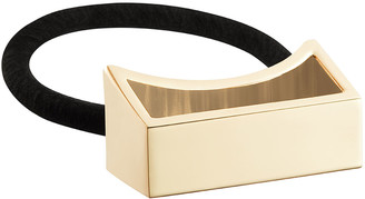 Oribe Geometric Gold Plated Metal Ponytail Holder