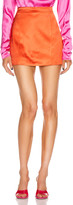 Gauge81 GAUGE81 Tuscany Satin Mini Skirt in Deep Orange   FWRD