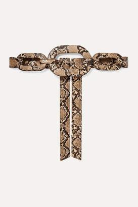 Johanna Ortiz Atravezando Un Manglar Snake-effect Faux Leather Belt - Snake print