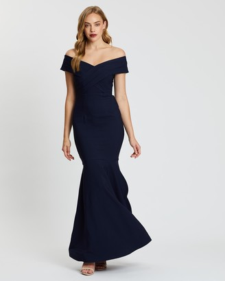 Bariano Angel Off-Shoulder Gown